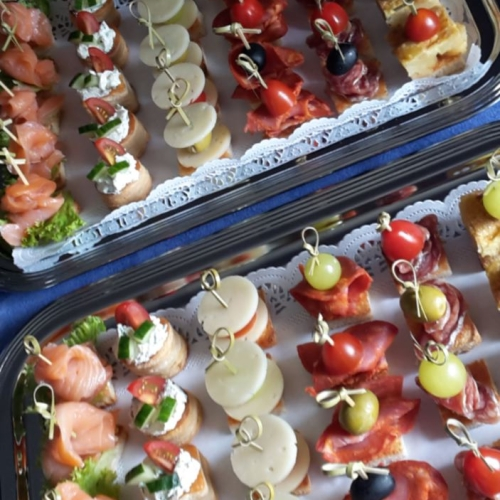 Combined canapés boards, 30 pieces